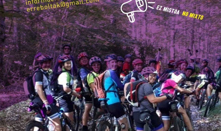 Salida BTT morada para mujeres ciclistas